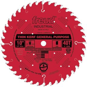 "LU86R010 Red Circular Saw Blade 10"" x 5/8"" Bore x 40 Tooth ATB Thin Kerf"