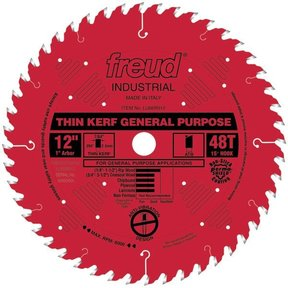 "LU86R012 Circular Saw Blade 12"" x 1"" Bore x 48 Tooth ATB Thin Kerf"