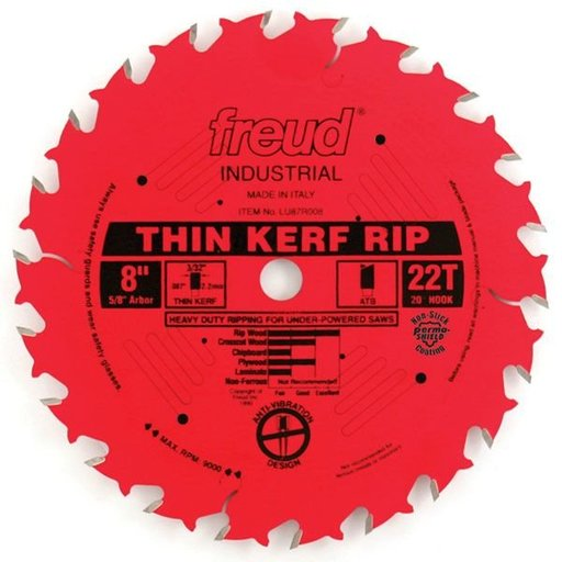 "View a Larger Image of LU87R008 Red Perma Shield Circular Saw Blade 8"" x 5/8"" Bore x 22 Tooth ATB"