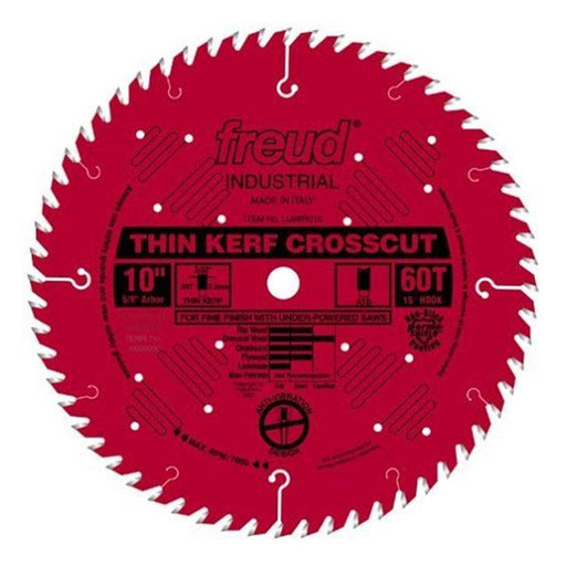 "View a Larger Image of LU88R010 Industrial Thin Kerf Fine Finishing Blade 10"" x 5/8"" Bore x 60 Tooth ATB Thin Kerf"
