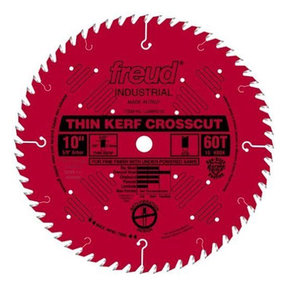 "LU88R010 Industrial Thin Kerf Fine Finishing Blade 10"" x 5/8"" Bore x 60 Tooth ATB Thin Kerf"