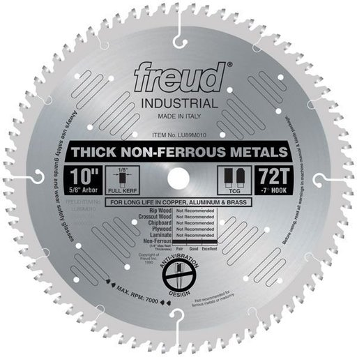 "View a Larger Image of LU89M010 Circular Saw Blade 10"" x 5/8"" Bore x 72 Tooth TCG"