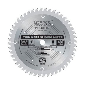 "LU91M008 Industrial Thin Kerf Sliding Miter Blade, 8-1/2"" diameter, 5/8"" arbor, 48 teeth ATB"