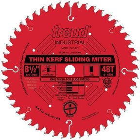 "LU91R008 Sliding Compound Miter Saw Blade 8-1/2"" x 5/8"" Bore x 48 Tooth ATB"