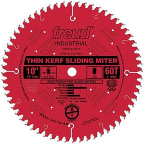"LU91R010 Sliding Compound Miter Saw Blade 10"" x 5/8"" Bore x 60 Tooth ATB"