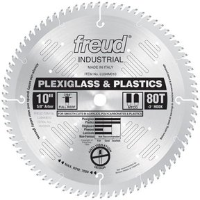 "LU94M010 Circular Saw Plastic Saw Blade 10"" x 5/8"" Bore x 80 Tooth TCG"