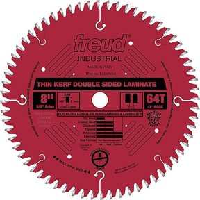 "LU96R008 Double sided Laminate / Melamine Saw Blade 8"" X 5/8"" Bore X 64Tooth Thin Kerf"