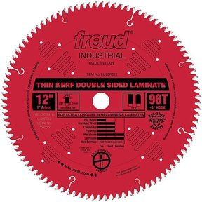 "LU96R012 Laminate Circular Saw Blade 12"" x 1"" Bore x 96 Tooth Top Center Grind"