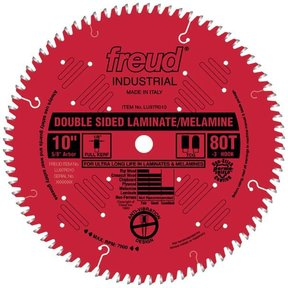 "LU97R9010 Double Sided Laminated/Melamine Circular Saw Blade 10"" X 5/8"" Bore X 80 Tooth TCG"