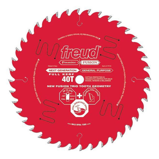 "View a Larger Image of P414 Premier Fusion Crosscut & Rip Blade, 14"" diameter, 1"" arbor, 54 teeth, 30 degree Hi-ATB"