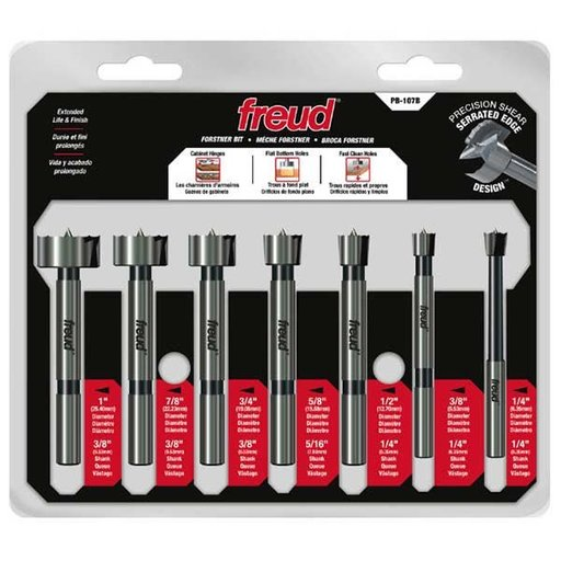 View a Larger Image of Precision Shear 7 Piece Forstner Bit Set