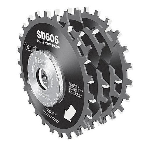 "View a Larger Image of SD606 Circular Saw Dial Dado Saw Blade Set, 6"" X 5/8"" Bore"