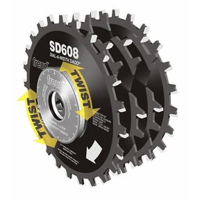 "SD608 Circular Saw Dial Dado Blade Set 8"" x 5/8"" Bore"
