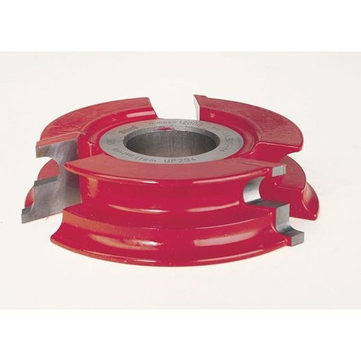 "View a Larger Image of UP294 Door Lip Shaper Cutter, 4-21/64"" OD, 25/64"" CD, 1-1/32"" CL, 1-1/4"" bore"