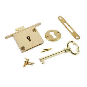 "Full Mortise Chest Lock, 5/16"" x 2"" x 1-5/8"""