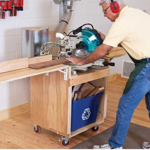 View a Larger Image of Full Service Mitersaw Stand - Downloadable Plan