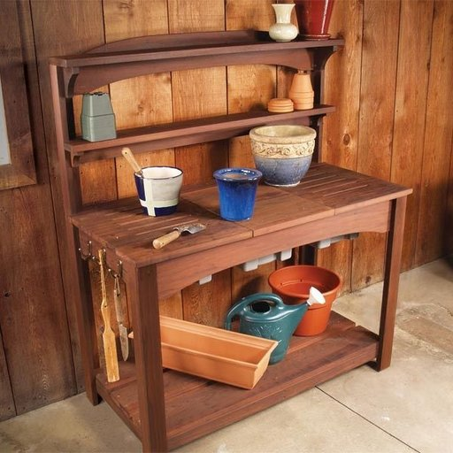 View a Larger Image of Full Service Potting Bench - Downloadable Plan