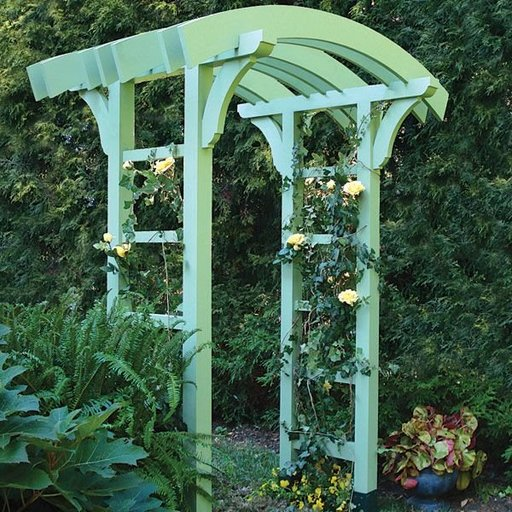 View a Larger Image of Garden Arbor and Gate - Downloadable Plan