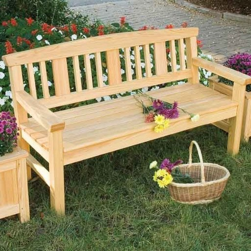 View a Larger Image of Garden Bench Downloadable Plan