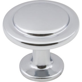 "Gatsby Knob, 1-1/4"" Dia.,  Polished Chrome"