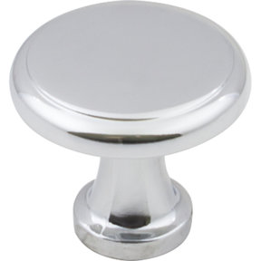 "Gatsby Knob, 1-1/8"" Dia.,  Finnish -Polished Chrome"