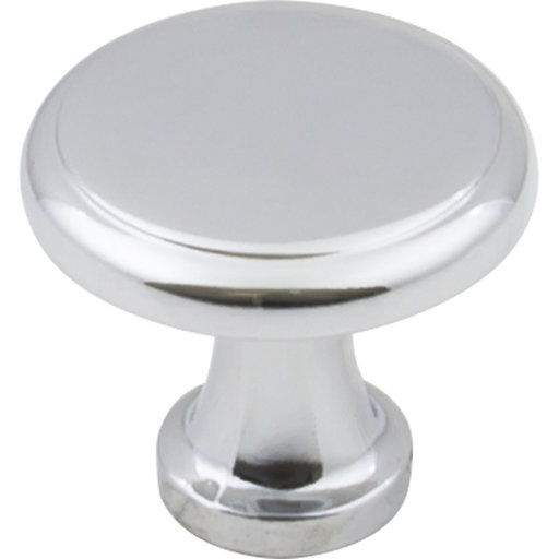 "View a Larger Image of Gatsby Knob, 1-1/8"" Dia.,  Finnish -Polished Chrome"