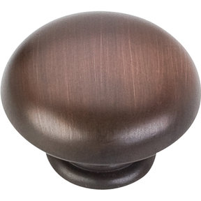 "Gatsby Knob, 1-3/16"" Dia.,  Brushed Oil Rubbed Bronze"