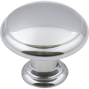 "Gatsby Knob, 1-3/16"" Dia.,  Polished Chrome"