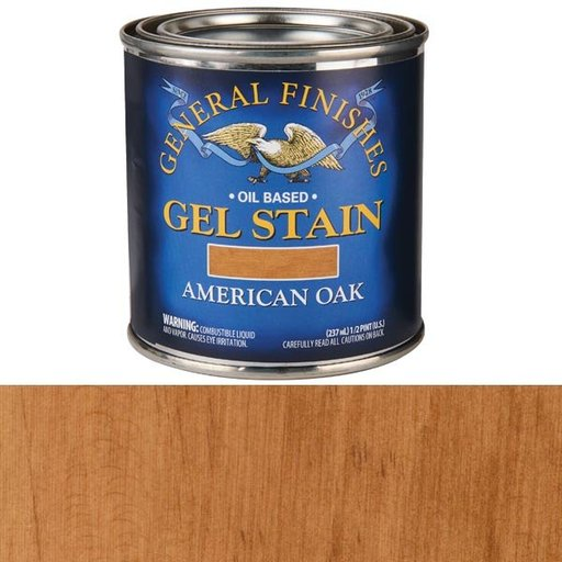 View a Larger Image of American Oak Gel Stain Solvent Based 1/2 Pint