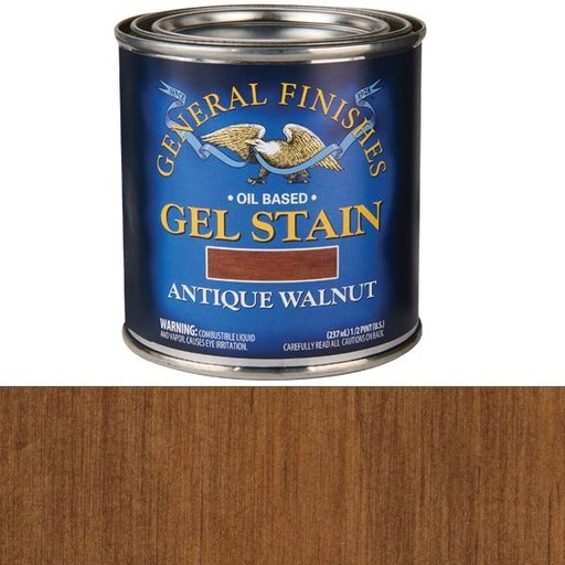 View a Larger Image of Antique Walnut Gel Stain Solvent Based 1/2 Pint