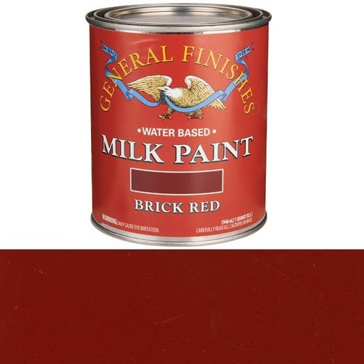 View a Larger Image of Brick Red Milk Paint Quart