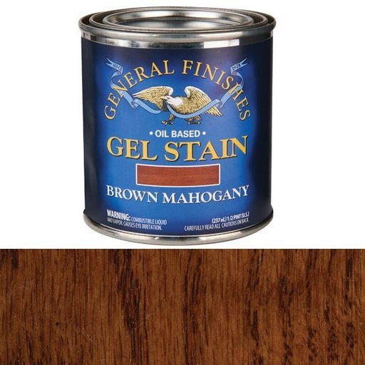 View a Larger Image of Brown Mahogany Gel Stain 1/2 Pint