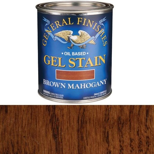 View a Larger Image of Brown Mahogany Gel Stain Quart