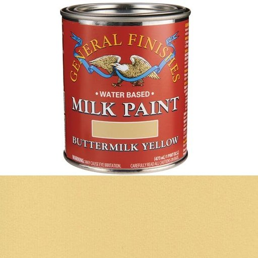 View a Larger Image of Buttermilk Yellow Milk Paint Pint