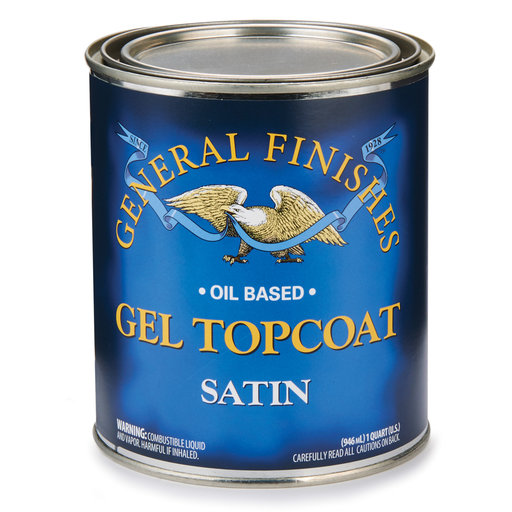 View a Larger Image of Clear Satin Topcoat Gel Quart