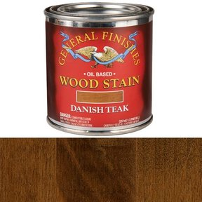 Danish Teak Stain Solvent Based 1/2 Pint