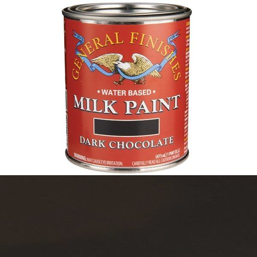 View a Larger Image of Dark Chocolate Milk Paint Pint
