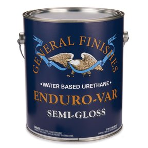 Semi-Gloss Enduro-Var Varnish Water Based Gallon