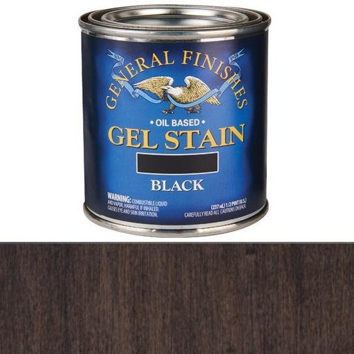 View a Larger Image of Gel Stain Black 1/2 pint