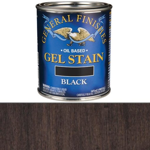 View a Larger Image of Black Stain Gel Solvent Based Pint