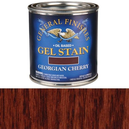 View a Larger Image of Georgian Cherry Gel Stain Solvent Based 1/2 Pint