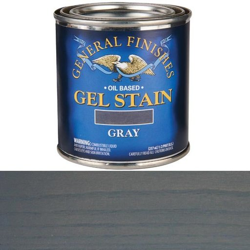 View a Larger Image of Gray Stain Gel Solvent Based 1/2 Pint