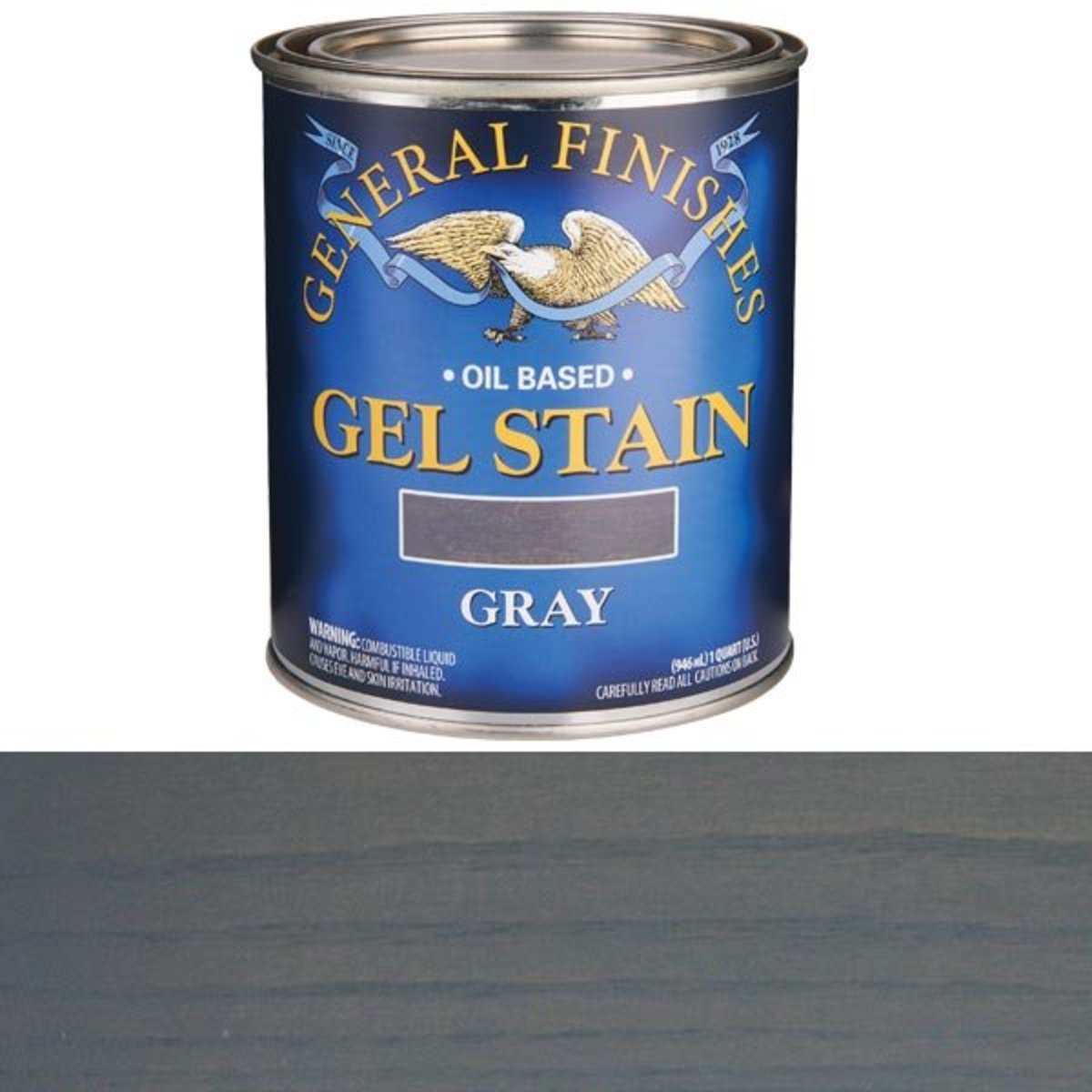 General Finishes Gray Gel Stain Quart