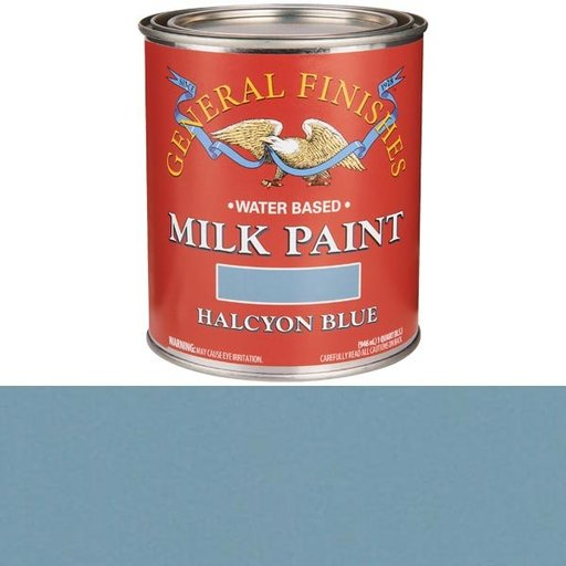 View a Larger Image of Halcyon Blue Milk Paint Water Based Quart