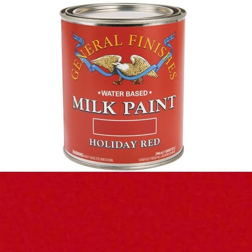 View a Larger Image of Holiday Red Milk Paint Quart