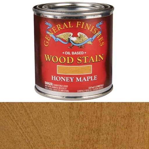 View a Larger Image of Honey Maple Oil Stain 1/2 Pint