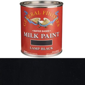 Lamp Black Milk Paint Water Based Quart