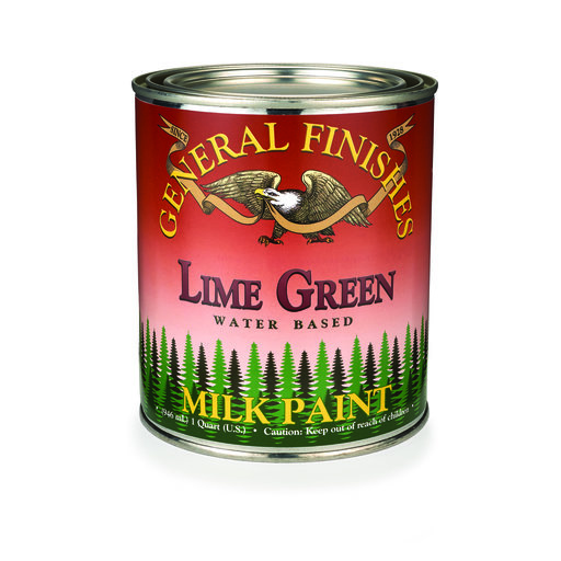 View a Larger Image of Lime Green Milk Paint Qt