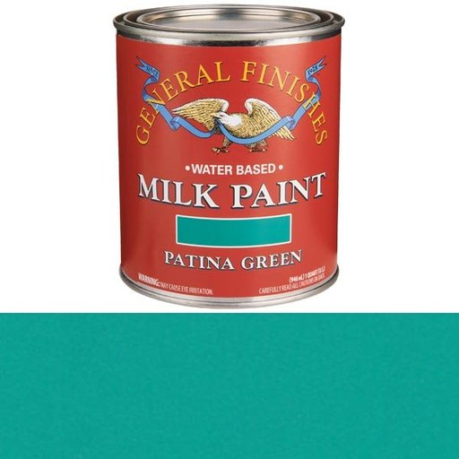 View a Larger Image of Patina Green Water Based Milk Paint Quart