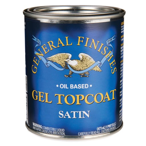 General Finishes Gel Stain Pint Or Furniture Oil Topcoat: Satin Topcoat Gel Pint